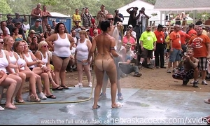 Amateur in nature's garb contest at this years nudes a poppin festival in indiana