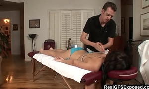 Realgfs – sexy dark brown acquires juicy from oil massage