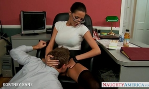 Office honey in glasses kortney kane fucking