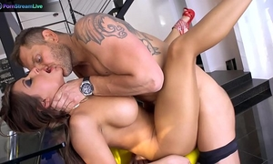 Wonderful dark brown madison ivy giving supplementary efforts on her much