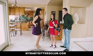 Mybabysittersclub - baby sitter acquires a 3some on the job