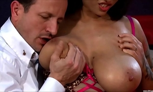 Busty dominno wench tit fucking