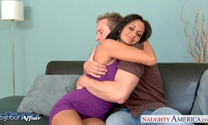 Neighbor ava addams acquires facialized