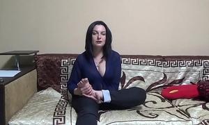 Self-foot worship, engulfing , licking, spitting and masturbation kate bb