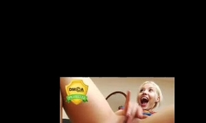 Hot golden-haired web camera squirt