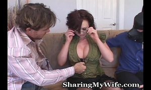 Naughty horny white wife with resigned hubby