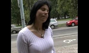 Brunette milf lenka receives paid for sex