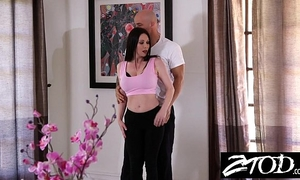 Hot large tit milf copulates her personal coach