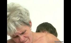 Hairy granny tastes juvenile 10-Pounder