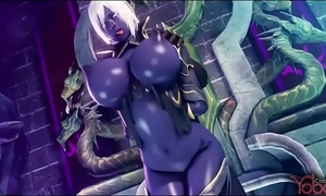 Dark elf acquires fuck by all monster