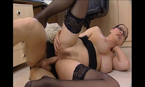 Porn star is screwed hard in office -