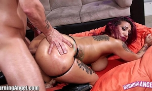 Burningangel large a-hole punk hottie oiled and analed