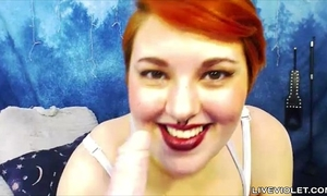 Bbw amelia with large natural pierced love muffins and red bush