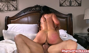 Bigboobed aged team-fucked hard in bedroom