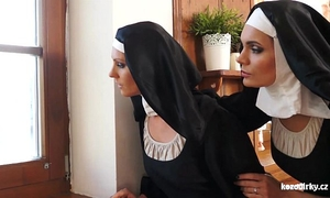 Cathlic nuns raunchy adventures with the animal!