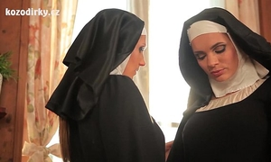 Beautiful nuns enjoying lesbo adventure