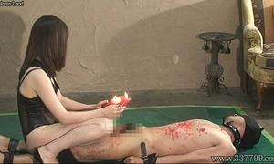 Japanese femdom sexy waxes s&m knob