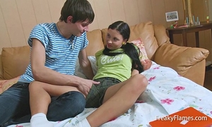 Interrupted juvenile lolita stepsis to receive knob in soaked taut legal age teenager vagina pretty soon fuck