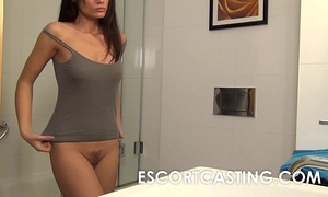Petite milf wishes to be escort and is secretly filmed