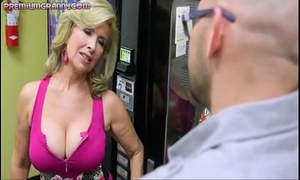 Superb breasty cougar drilled hard