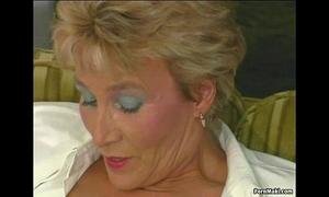 Granny tries anal