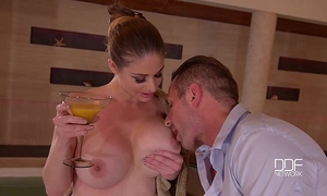 Busty milf cathy heaven goes crazy for hard anal sex