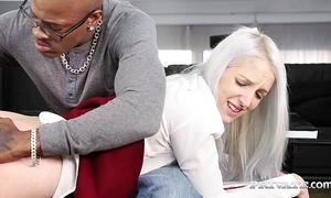 Naughty school white women liz rainbow receives some interracial a-hole play
