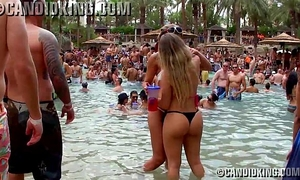 Two hot brazilian chicks making out in belt bikinis
