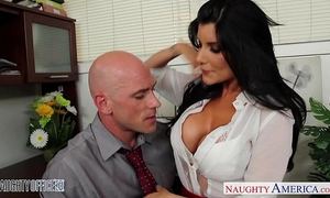 Office hottie in high heels romi rain fucking