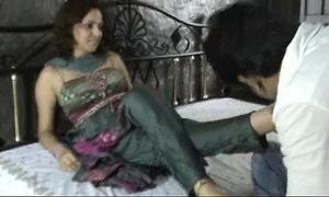 Indian slut in churidar foot worship