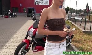Euro girlnextdoor flashes for money