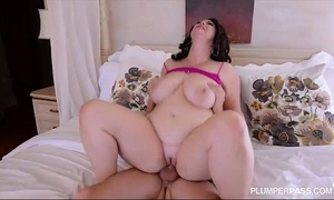 Plump large tit milf receives drilled in the arse by college fellow