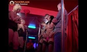 Real non-professional spunk fountain fuckfest in swinger club