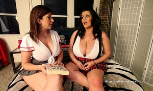 Busty angelina castro & sara jay school gals masturbation!
