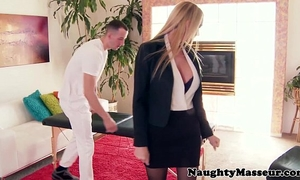 Oiled massage chick blake rose a-hole screwed