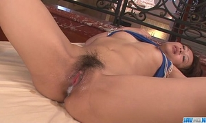 Maika gives a japan housewife irrumation and copulates 2 males