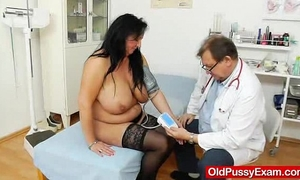 Adult toy in pussy during a Married slut gyno