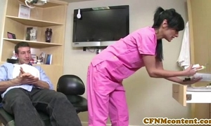Cfnm nurse persia pele receives a facial