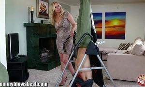 Mommybb breasty milf julia ann is engulfing my bound up boyfriend!