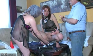 Oldnanny hot juvenile BBC slut playing with old dude and his old corpulent aged