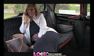 Love creampie breasty and wicked british mommy lets taxi driver cum inside