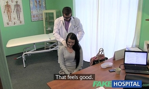 Fakehospital pretty patient prescribed a good moist fucking on desk as cure