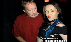 Lactating stripper bitch bonks whole porn theater!