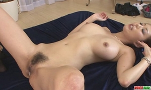 Creampied in one as well as the other holes after akari asagiris three-some