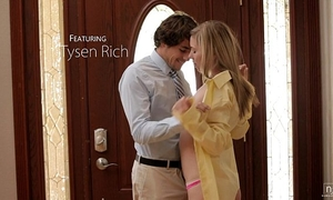 Nubile films - cute legal age teenager face splattered with ball cream