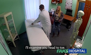 Fakehospital dizzy youthful blond takes a creampie from doctor
