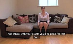 Fakeagentuk non-professional british white bitch with giant marangos acquires multiple orgasms