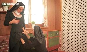 Nuns enjoying lesbo sex