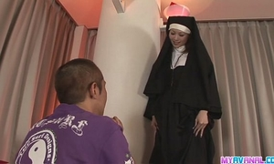Unholy nun fucking rika sakurai receives it in the booty