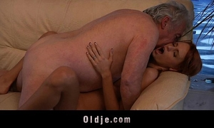 Grandpa favourable to fuck a hot youthful redhead playgirl